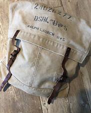 12b. Ralph Lauren Denim Supply Military Canvas & Leather Messenger Bag