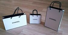 3x Authentic Chanel Paper Shopping Gift Bag Tote White VIP GIFT