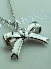 Hot Diamonds Sterling Silver Diamond Ribbon Bow  pendant / necklace  £79.95