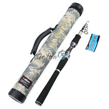 7.9FT Telescopic Spinning Fishing Rod Carbon Fiber M Travel Pole & Storage Case