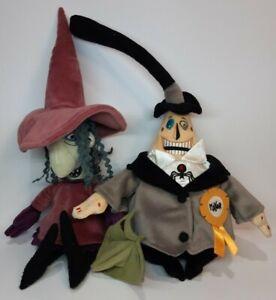 Disney Nightmare Before Christmas Shock and Mayor Plush Figure Lot Of 2