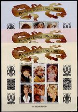 Burkina Faso 1091-3 MNH Diana, Princess of Wales