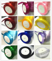 "3/8""10mm ~ 5/8""15mm 25yards Wedding Party festival Craft Satin Ribbon ~12 color"