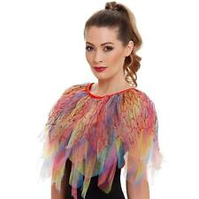 Womens Mythical Bird Neck Scarf Ruffle Cape Feathers Cosplay Costume Fancy Dress