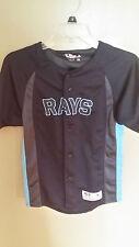 Tampa Bay Rays True Fan Baseball Jersey Size Large Youth