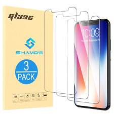 For iPhone XS Max [3 Pack] Screen Protector Tempered Glass Protector Film
