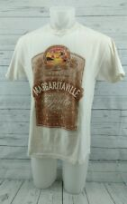 JIMMY BUFFETT 2001 A Beach Odyssey Men's T-Shirt Size LARGE TOUR CREAM COLOR