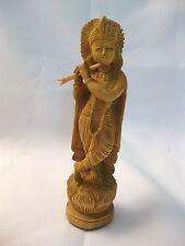 KRISHNA-Statue aus Holz, Buddhismus, Meditation, Kunst, Deko!   UVP: 39,00 €
