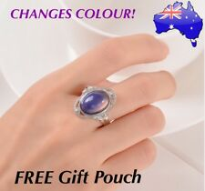 Retro Mood Ring Temperature Emotion Feeling Colour Changing Adjustable Rings