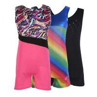 Kids Girls Youth Gymnastics Leotards Sport Training Ballet Dance Tank Suit 3-10Y