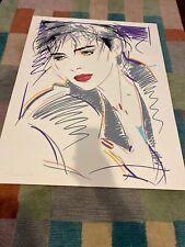 "Dennis Mukai Framed Serigraph Signed 1987 Serigraph ""Ursula"""
