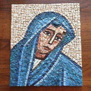 Quadro a mosaico Madonna blu