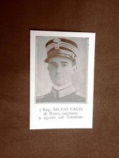 WW1 Prima guerra mondiale 1914-1918 Caduto Silvio Calò di Roma