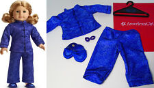 American Girl Doll Clothes Purple Satin Kimono SLEEPOVER PJ'S & SLIPPERS Pajamas