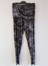 Ginger & Smart Sz M Grey Print Jersey Slim Fit Pants Draped Ruched Skirt Overlay
