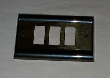PLACCA 3 POSTI OTTONE LIGHT BLACK  COMPATIBILE BTICINO MAGIC FRASCIO 2303