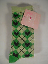 1 pair Simply Sockettes Girls GREEN SOCKS  6 - 8 1/2