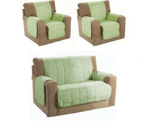 SALE Faux Suede 2/3 Seater Sofa Or Armchair Quilted Furniture Cover Protectors