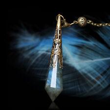 Tarot Divination Faceted Crystal Pendulum Moonstone Retro Wicca Pagan Altar Prop