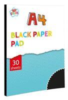 A4 Noir Couleur Papier Coussin 30 Pages Dessin Art Craft Artiste Uni Album Ba