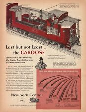 1943 New York Central Railroad Caboose Diagram Vintage Color Art Print Ad