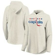 Women Fanatics Washington Capitals Hockey Game Lead Cream Hoody Pullover Size XL