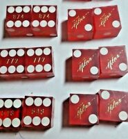 LAS VEGAS HILTON HOTEL CASINO MATCHING NUMBERED DICE 1 PAIR + BONUS