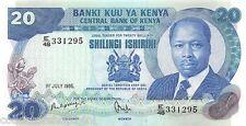 Kenya 20 Shilingi 1985 Unc pn 21d