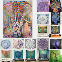 Indisch Elefant Mandala Tapisserie Wandteppich Wandbehang Yoga Strandtuch Matte