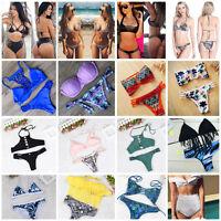 Sexy Bikini Set Women Swimwear Push-up Padded Bandage Bra Swimsuit Bathing Suit