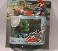 NEW Official Mario Kart Wii Pull Back Racers Yoshi Figure in Car Factory Sealed
