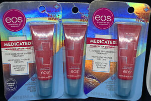 Lot Of 3 EOS The Fixer Medicated Analgesic Lip Ointment - Brand New, Sealed!