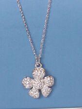 "Dainty, Delicate Lia Sophia WILD ROSE Necklace, 16-19"", Cut Crystals, NWT"