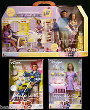 Grandma's Kitchen Happy Family Pregnant Midge Barbie Doll Grandpa Baby Alan Ryan