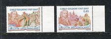 Vatican 1354-1355, MNH, 2007 Carlo Goldoni, Playwright. x26523