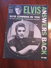 ELVIS PRESLEY Confides in you 1956 magazine