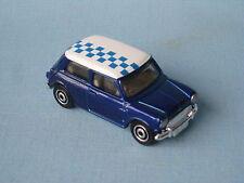 MATCHBOX 1964 Austin Mini Cooper S con tetto a scacchi blu corpo Giocattolo Modellino Auto