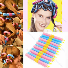 24 Pcs DIY Magic Hair Curler Soft Foam Curlers Formers Spiral Styling Rollers