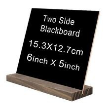 Bar Cafe Shop Food Note Blackboard Table Stand Base Board Memo Display Chalk