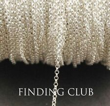 Free ship 3/30m 2mm Brass Chain Round Link Chains Necklace Jewelry Findings