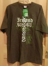 IRELAND Gray T-shirt with Celtic Cross Logo   Mens XL NWT