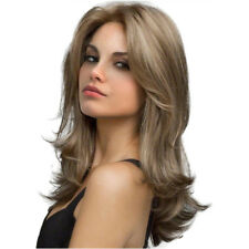 Charming Natural Light Blond Long Curly Wig Synthetic Hair Wigs Cosplay