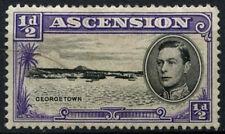 """Ascension 1938-53 SG#38ba 1/2d Black & Violet P13 Long Centre Bar """"E"""" MH#D42175"""