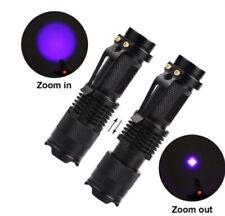 UV Lampe LED Taschenlampe 395 nm Zoom Scorpion Bernstein Schwarzlicht am