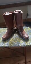 Women X Element Harness Motorcycle Brown Leather Boots 7 Water Repellent
