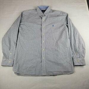 Polo Ralph Lauren Multi-Color Plaid Button-Up Dress Shirt Size XL Cotton Stretch