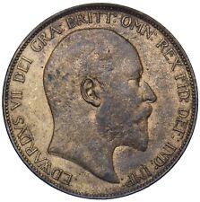 More details for 1907 penny - edward vii british bronze coin - v nice