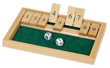SHUT THE BOX Spiel Holz Würfelspiel Klappenspiel Brettspiel Klappbrett °°°NEU°°°