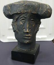 """ALVAR SUNOL"" Spanish Artist ""Matador""  Bronze Overlay Cast Modernist Sculpture"