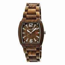 NEW Earth EW2404 Unisex Sagano Watch Olive Wood Organic Eco Friendly Sustainable